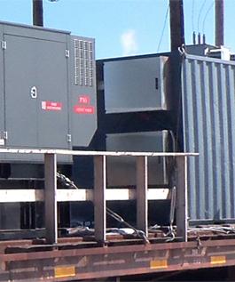 2 boîtiers STA 800A avec montage de deux génératrices sur un train pour camp minier.